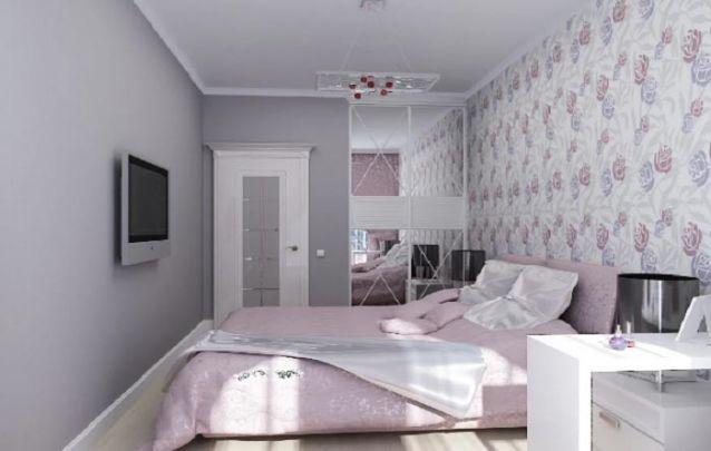 Em um quarto pequeno, um guarda roupa planejado com duas portas pode ser o suficiente