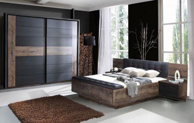 Uma opção de guarda roupa planejado para um quarto com estilo rústico