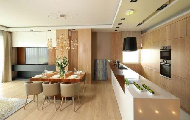 Três ambientes planejados integrados de maneira harmoniosa