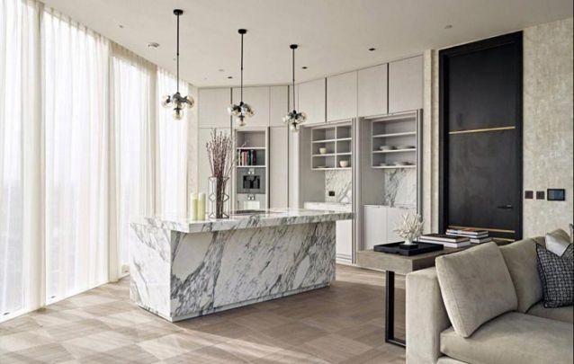 Sofisticação é a palavra que define esta cozinha planejada