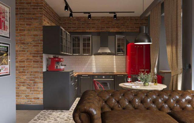 Moveis planejados para uma pequena cozinha cheia de atitude