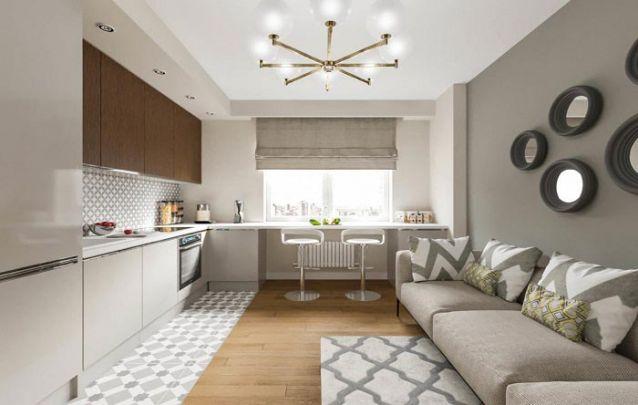 Em ambientes pequenos móveis planejados são capazes de unir diferentes cômodos em um só