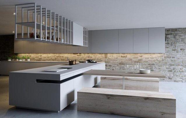 Uma cozinha original composta por móveis planejados