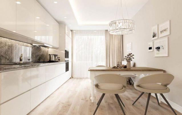 O acabamento em laca brilhante é comum em móveis planejados, e traz elegância aos ambientes