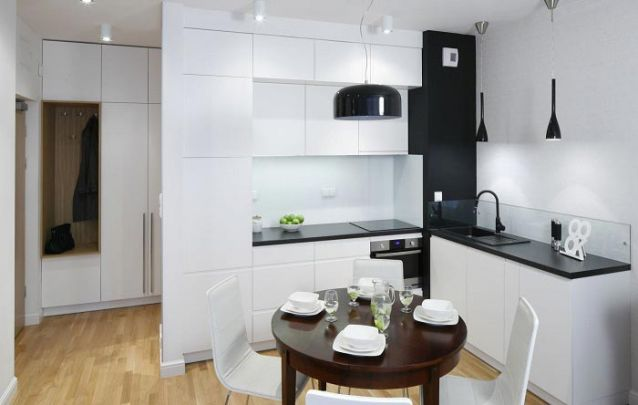 Branco e preto, uma combinação clássica para móveis planejados