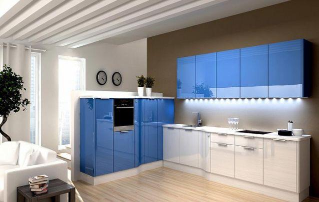 Que tal um pouco de azul para inovar seus móveis projetados?