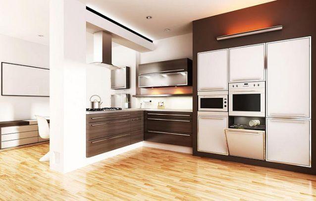 Aposte em eletrodomésticos embutidos para otimizar espaço