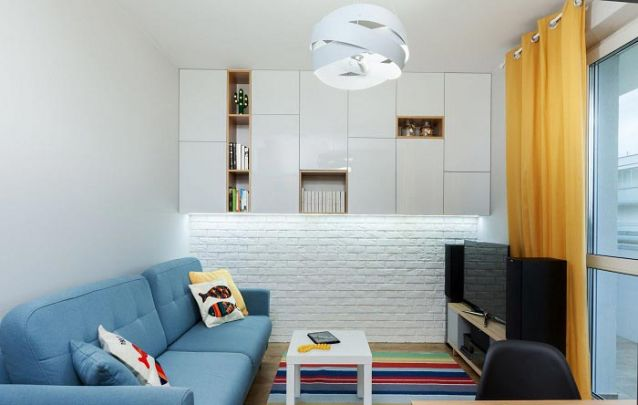 Um armário planejado com um design inovador