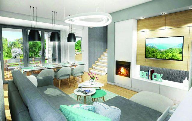 Uma moderna sala de estar projetada