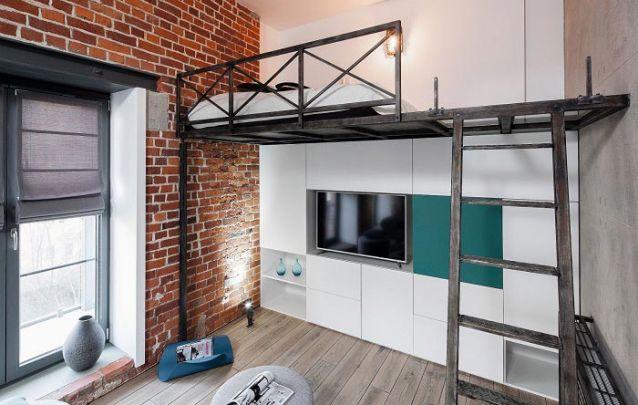 Em apartamentos do tipo loft os móveis planejados auxiliam a harmonizar os ambientes