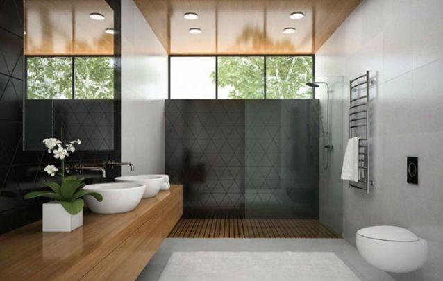 Móveis planejados também combinam muito bem com os banheiros