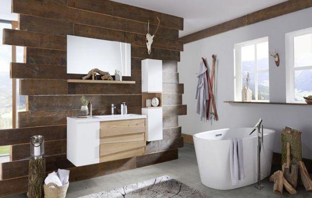 Móveis planejados para banheiro com estilo rústico