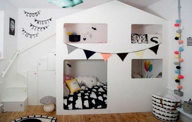 Uma cama planejada para trazer um toque lúdico ao quarto infantil