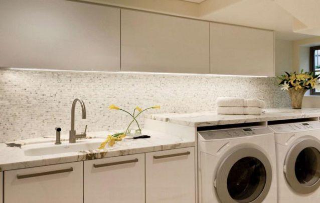 Móveis planejados elegantes para uma lavanderia moderna