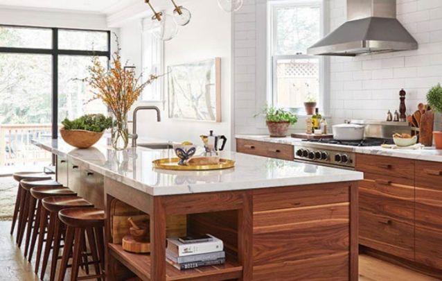 Se você busca cozinhas americanas para combinar com uma decoração rústica, esta é uma boa opção