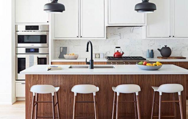 Cozinha americana simples porém elegante