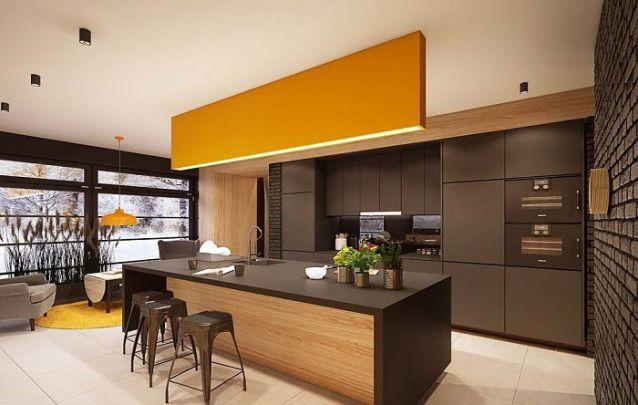 Amarelo e preto, uma combinação interessante para a sua cozinha americana