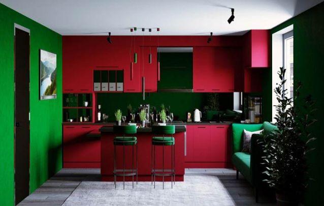 Esta cozinha americana colorida é para quem não tem medo de ousar