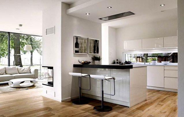 O mesmo piso em todos os ambientes cria uma bela sensação de continuidade, aumentando a ilusão de amplitude