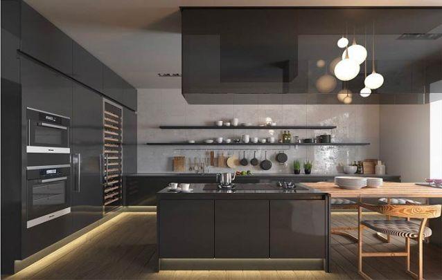 Cozinhas americanas pretas estão em alta no momento