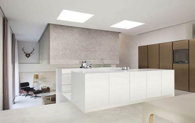 Ambientes integrados em pisos diferentes