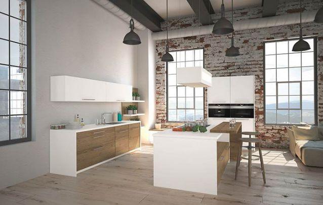 Se você possui um apartamento ao estilo loft, pode se inspirar nesta cozinha americana pequena