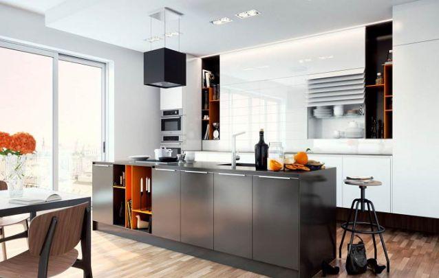 Cinza e amarelo, uma combinação atual para fazer parte da sua cozinha americana