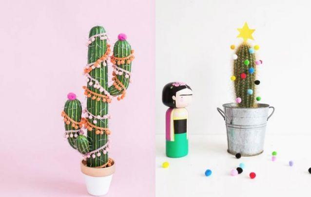 Se você não tiver um pinheiro, pode decorar seus cactos!
