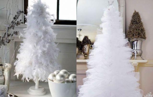 Você pode apostar em um enfeite de natal feito com plumas ou tule