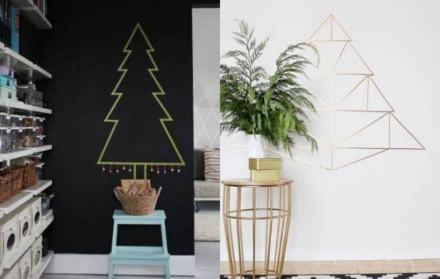 Washi tape também é uma boa alternativa para criar uma decoração de natal moderna