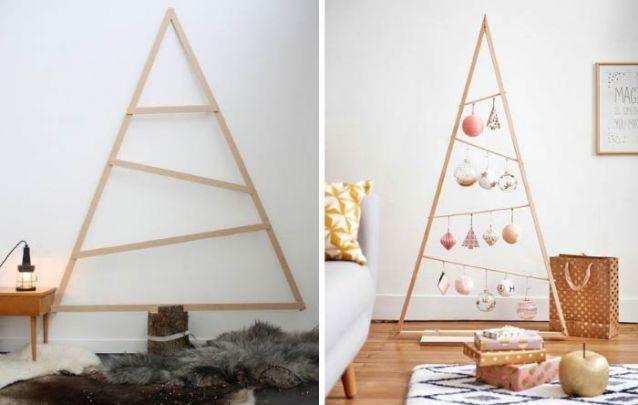 Arvores em marcenaria para quem busca uma decoração de natal simples e delicada