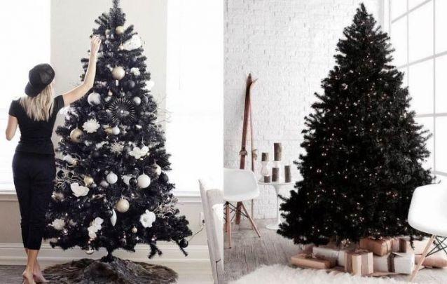 Um pinheiro preto é inesperado, luxuoso e trará destaque para o seu natal