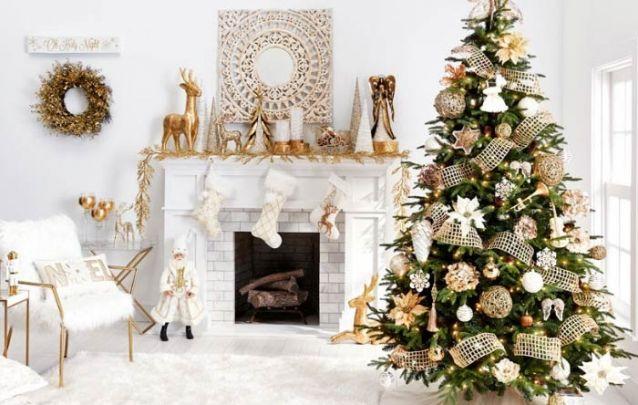 Branco e dourado, uma decoração clássica e elegante