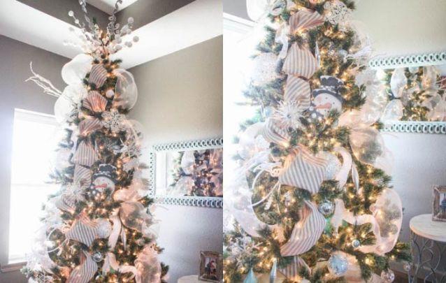 As fitas anteriormente restritas aos embrulhos de presente, hoje também fazem parte da decoração do pinheiro de natal
