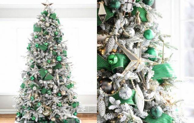 Verde e prata, uma combinação refinada