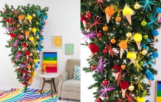 Que tal um pinheiro invertido colorido?