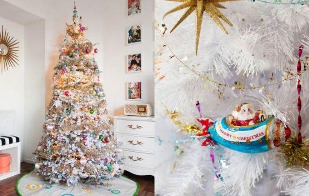 Ou quem sabe uma decoração um tanto excêntrica para um pinheiro branco?
