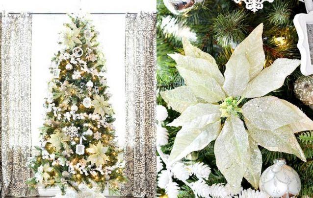 Branco, prata e pérola, uma mescla delicada para a decoração de natal