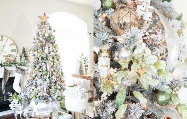 Verde, dourado, branco e prata, uma paleta brilhante para a decoração de natal
