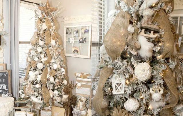 Uma linda decoração rústica com branco e marrom