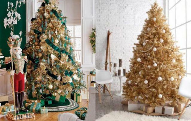 E que tal uma arvore de natal dourada para surpreender seus convidados?