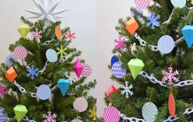 Você também pode apostar no artesanato de natal e decorar a sua arvore com alguns enfeites feitos por você