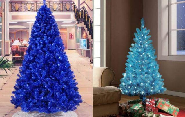 Já que o azul virou tendência, por que não apostar em uma arvore de natal azul?