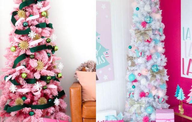 Qual decoração você prefere, a da arvore de natal rosa ou branca?