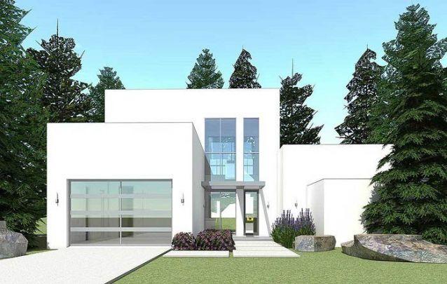 Casa moderna com estrutura linear