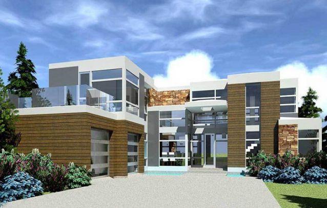 Pedra, madeira e concreto, um trio de materiais interessante para compor casas modernas