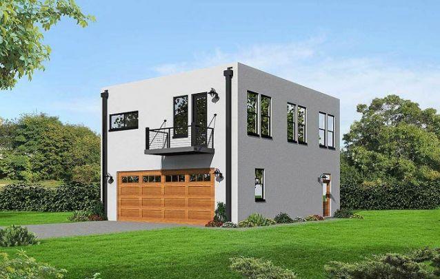 Casa moderna em formato de cubo