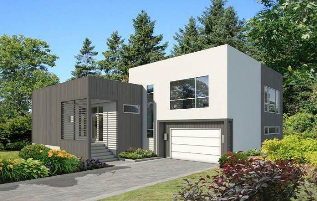A arquitetura desta casa moderna teve como partida uma forma básica, o cubo