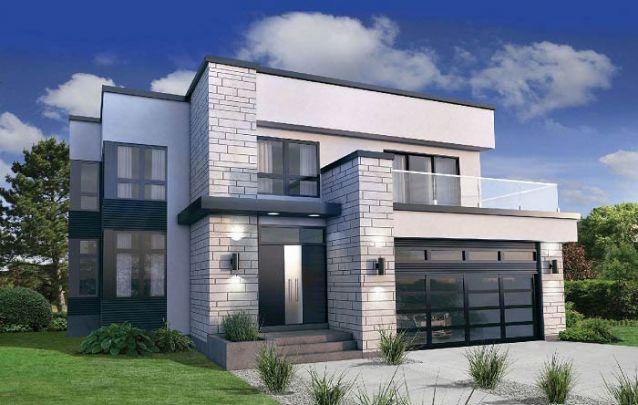 Casa moderna sofisticada com detalhes em pedras