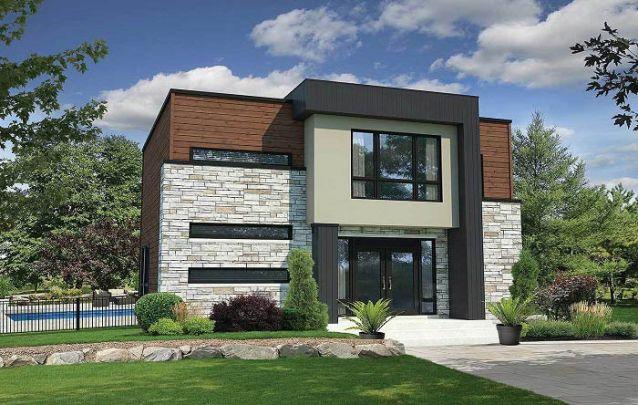 Mais uma opção elegante dentre os vários projetos de casas modernas